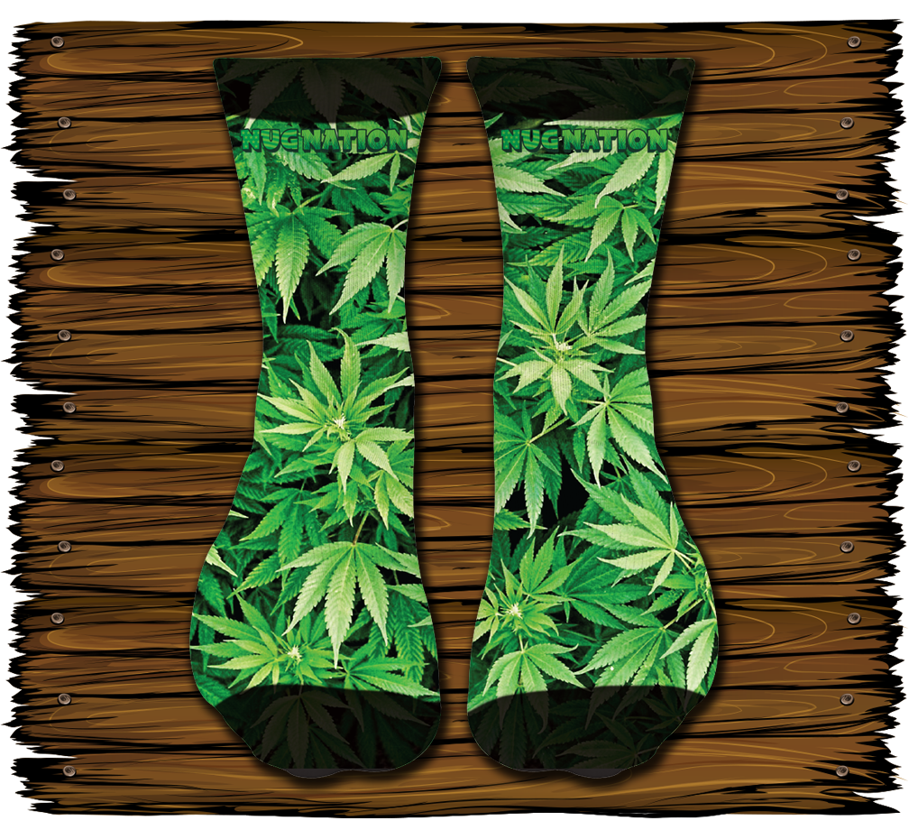 Leaf Garden Socks The Nug Nation